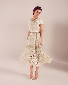 c986e9754 Embellished lace wedding dress - Cream