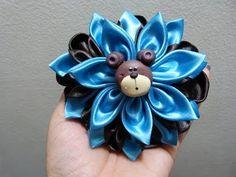 Flores Kanzashi  para el  cabello paso a paso.video 207