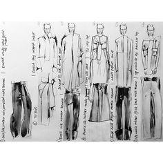Fashion Sketchbook - fashion design sketches & notes on development - fashion drawings; fashion portfolio // Connie Blackaller
