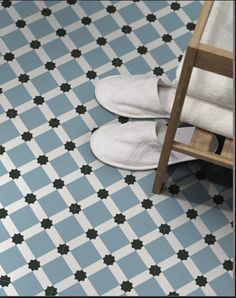 Barcelona Night Decor is a stunning patterned floor or wall tile in eye catching shades or Blue White and Black. - April 27 2019 at Tiled Hallway, Hallway Flooring, Bathroom Flooring, Wall And Floor Tiles, Wall Tiles, Tile Suppliers, Beach Bathrooms, Thrifty Decor, Floor Patterns