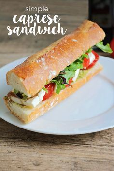 This simple and delicious caprese sandwich is so fresh and tasty, and easy to make!