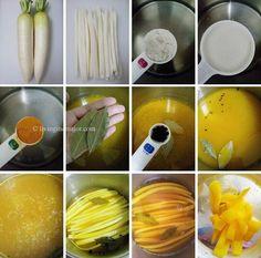 How to make Korean Sweet Yellow Radish Pickle (Danmuji)