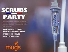Scrubs Party #sondeaquipr #scrubsparty #mugs #hatillo