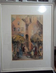 nancy graham painting pastel / watercolour street scene montrose