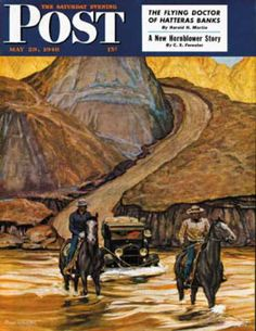 Saturday Evening Post - 1948-05-29: Westward Tow (Mead Schaeffer)