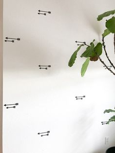 Decorating my living room using removable decals. Paper Riot decals completely transform my bare living room walls. Living Room Update, Living Room Decor, Apartment Walls, Decorate Apartment, Entry Hallway, Hallway Decorating, Wall Decals, How To Remove, Paper