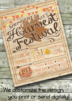 Wooden Harvest Festival  FALL FEST  Church or by DitDitDigital