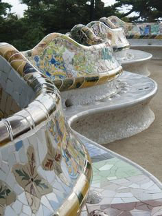 Guell Park (Parc Guell), UNESCO World Heritage Site, Barcelona, Spain