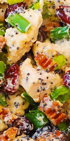 Cranberry Pecan Chicken Salad with Poppy Seed Dressing - also great for leftover Thanksgiving turkey meat!