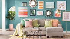 Get inspired by Modern Living Room Design photo by Wayfair Catalog. Wayfair lets you find the designer products in the photo and get ideas from thousands of other Modern Living Room Design photos. Living Room Paint, My Living Room, Living Room Interior, Living Room Furniture, Living Room Decor, Small Living, Living Room Wall Colors, Living Spaces, Living Room Turquoise