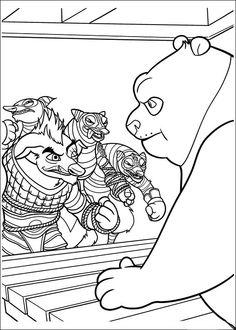 Kung Fu Panda Tegninger til Farvelægning. Printbare Farvelægning for børn. Tegninger til udskriv og farve nº 30