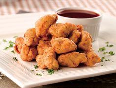 Cotufas o Nuggets de pollo en salsa agridulce | Delicioso para picar o hacer una buena entrada al plato fuerte | Receta: https://www.facebook.com/notes/mccormick-colombia/cotufas-de-pollo-en-salsa-agridulce/262786400486534 #Recetas #Cocina #Culinaria