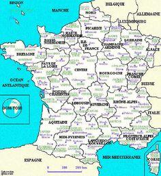Cours de civilisation sur la géographie de la France   Niveau: 3ème/5ème année de français   Voyage virtuel à partir d´une carte géographique interactive de la France