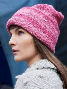 Use our step-by-step tutorials to knit this hat from Novita 7 Brothers Pohjola. Not a single purl stitch, but the finished hat is turned wrong side up, giving the hat its own, distinct look. Knitting Patterns, Crochet Patterns, Purl Stitch, Knit Fashion, Caps Hats, Knitted Hats, Knit Crochet, Winter Hats, Wool