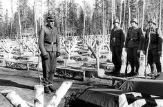 "Untersturmführer Eystein Bech, of the 6th SS Mountain Division ""Nord"", at the funeral of fallen Norwegian volunteers."