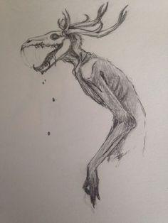 Wendigo by LazarusFrankenstein.deviantart.com on @DeviantArt