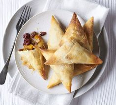Give mince pies a makeover with this alternative recipe - all the festive flavour wrapped up in sheets of filo pastry and baked until crisp
