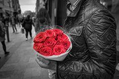 Flowers + Boy = butterflies tickling my tummy on the inside.  #love #romance #fallinginlove #gentleman #sweetguy
