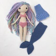 "Crochet Amigurumi Doll Mermaid Toy Pattern with clothes PDF E-book ""Luna"" by TheMerinoMermaid on Etsy"