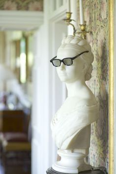 Bust in the Hall at Hatch House, licensed for weddings. Photograph Jake Eastham.