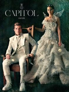 I love Katniss's dress although it looked extremely uncomfortable and hard to walk in and I bet she never sat down in it
