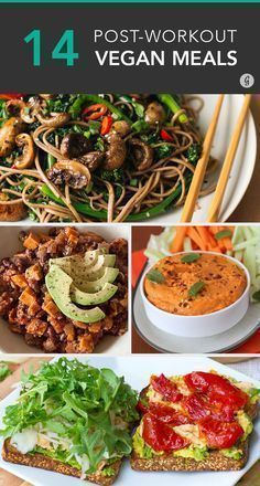 Awesome Post-Workout Meals for Vegans Vegan post-workout recipes! These easy recipes refuel your musclesVegan post-workout recipes! These easy recipes refuel your muscles Veggie Recipes, Whole Food Recipes, Vegetarian Recipes, Healthy Recipes, Easy Recipes, Healthy Foods, Healthy Protein, Dinner Recipes, Lunch Recipes