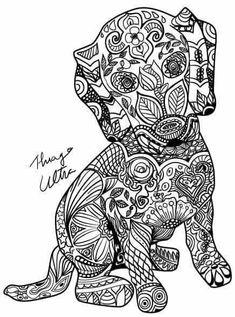 230 Meilleures Images Du Tableau Coloriage Mandala Chien Coloring