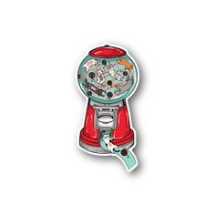 Cat Gumball Machine Sticker - Vinyl Stickers are a great way to customize anything. Phone Stickers, Diy Stickers, World Map Sticker, Cat Machines, Gumball Machine, Travel Aesthetic, Flask, Phone Case, Diy And Crafts