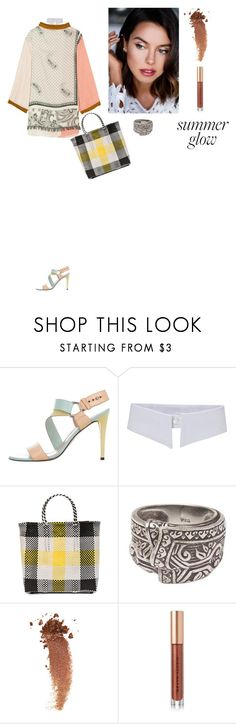 """""""Untitled #358"""" by amory-eyre ❤ liked on Polyvore featuring beauty, Stuart Weitzman, TRUSS, NOVICA, Gucci, Kevyn Aucoin and Acne Studios"""