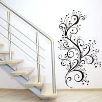 Adesivo Decorativo - Adesivo de Parede: Arabesco romântico - Deccolar Adesivos Decorativos