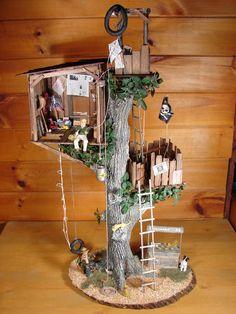 Miniature Treehouse - Cat tree like this