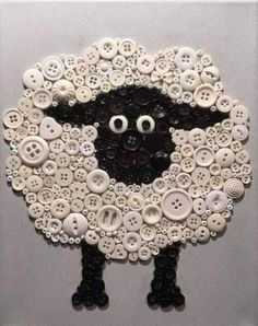 Cute Easter crafts with buttons - are y'all thready for this? - Hike n Dip - Easter Ideas for 2020 - easter crafts with buttons - Crafts To Make, Fun Crafts, Crafts For Kids, Arts And Crafts, Sheep Crafts, Diy Buttons, Vintage Buttons, Buttons Ideas, Crafts With Buttons
