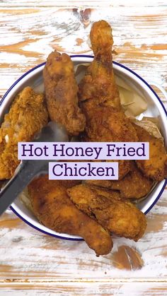 Honey Fried Chicken, Fried Chicken Recipes, 3 Ingredient Meals, Yummy Food, Tasty, Cooking Recipes, Healthy Recipes, I Love Food, Food Dishes