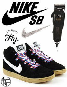 "Christmas Eve with Fly x Nike SB ""Barber"" Dunk Hi"