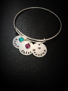 A personal favorite from my Etsy shop https://www.etsy.com/listing/227449179/personalized-hand-stamped-grandma
