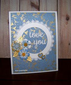 Ann Greenspan's Crafts: Using Gilding Waxes on Embossed Backgrounds