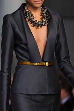 Yowsers -- sexy collar---Birdcage Walk : Oscar de la Renta at New York Fashion Week Fall...