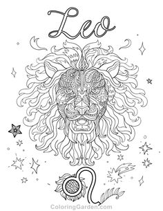 Free Printable Leo Adult Coloring Page Download It In PDF Format At
