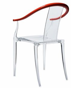 chaise transparente de design philippe starck