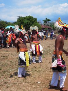 Caci-Dancers in Flores #travel #indonesia