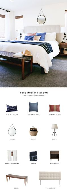 This modern bohemian bedroom designed by Annabode gets recreated for less by copycatchic luxe living for less budget home decor and design looks for less