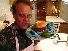 Best Burger Ever Recipe : Alton Brown : Food Network Alton Brown Burger Recipe, Brown Recipe, Hamburger Sliders, Hamburger Buns, Wine Recipes, Food Network Recipes, Beef Recipes, Alton Brown Chicken Wings, Bobby Flay Recipes