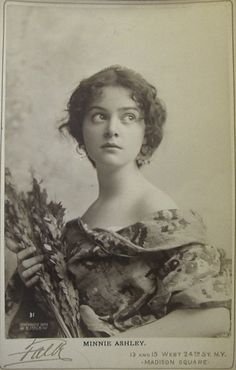Minnie Ashley by Falk, 1897