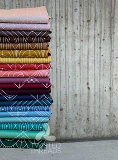 Rail Fence Quilt, Andover Fabrics, Green Quilt, Modern Art Deco, Textile Fabrics, Fabric Strips, Pastel, Design Inspiration, Prints