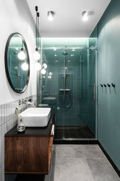 Small modern apartment with a separate bedroom in Gdansk 38 sqm PUFIK Beautiful Interiors Online Magazine Bathroom Interior Design, Apartment Interior, Beautiful Interiors, Apartment Interior Design, Apartment Bathroom, Modern Bathroom, Modern Interior Design, Modern Interior, Modern Apartment