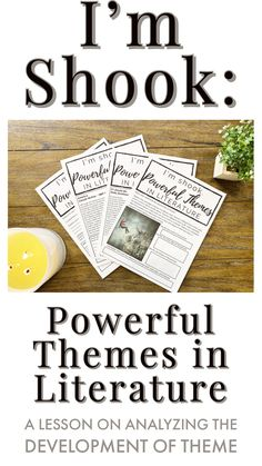 Make finding theme relevant and engaging for your secondary ELA students with I'm Shook! Powerful Themes in Literature worksheets. Four worksheets help your students to explore and reflect on the development of theme. Teaching Literature, Teaching Themes, Teaching Strategies, Teaching Reading, Teaching Tools, Learning, Ela Classroom, Middle School Classroom, English Classroom