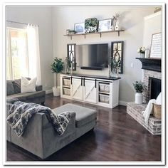 best farmhouse living room tv stand design ideas 16 « Home Design My Living Room, Home And Living, Living Room Furniture, Home Furniture, Small Living, Classy Living Room, Cozy Living Rooms, Furniture Storage, Furniture Design