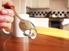 A morbid new way to count calories: the Sugar Skull Spoon:  http://www.thisiscolossal.com/2013/10/sugar-skull-spoon/
