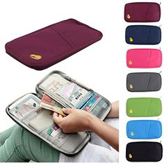 Details about Travel Bag Wallet Purse Document Organiser Zipped Passport Tickets ID Holder pink -- You can find more details by visiting the image link. #TravelAccesories