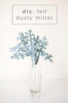 DIY felt dusty miller leaves - for felt bouquet (tutorial) | Someting Turquoise